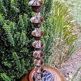 Water Catcher by Richard Michael Lingo - Artistic Objects Other Objects ( rain, garden objects, artisitic objects, water catcher, downspout )