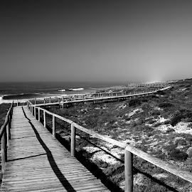 Go to the end by Gil Reis - Black & White Landscapes ( beaches, places, nature, travel, sea )