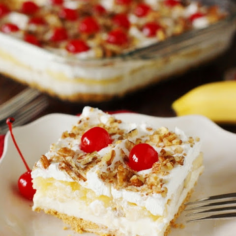 No-Bake Banana Split Cake (Printable recipe)
