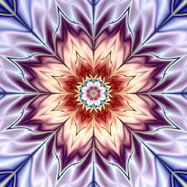 Flower 3 by Cassy 67 - Illustration Abstract & Patterns ( digital art, beauty, flowers, fractal, digital, fractals, blossom, flower )