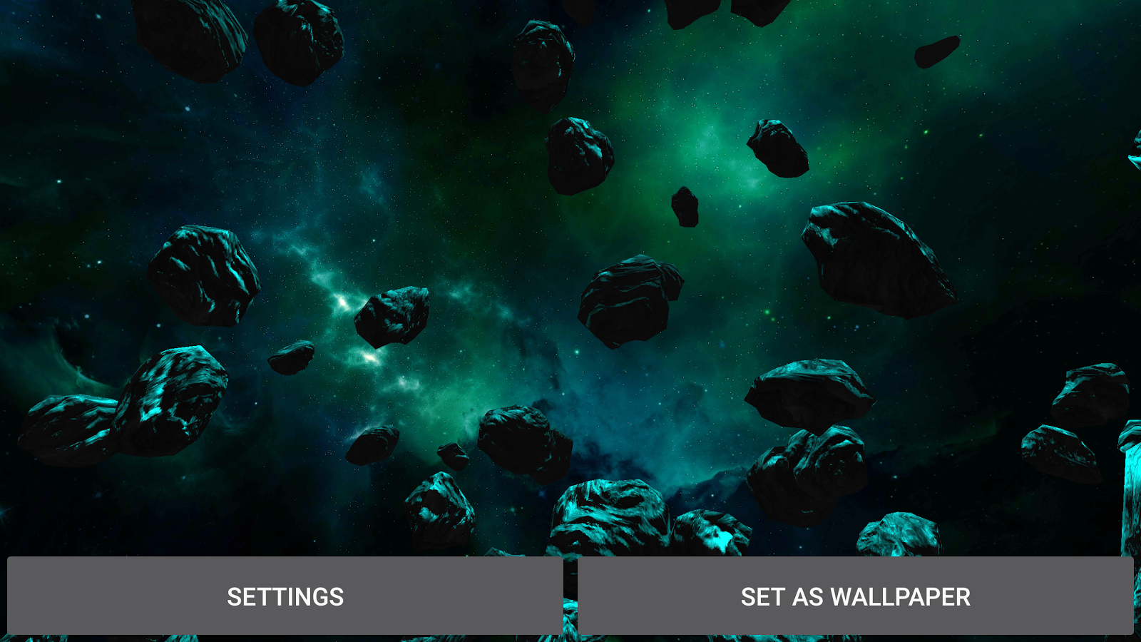 3D Galaxy Pack Live Wallpaper Screenshot 10