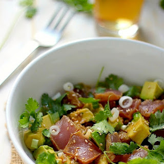 Quick and Healthy Ahi Tuna and Avocado Poke