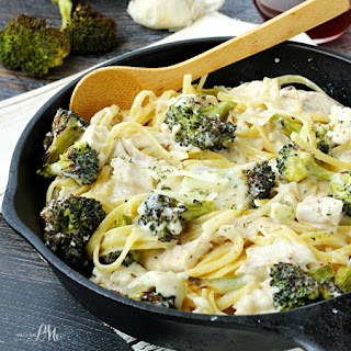 Roasted Broccoli Chicken Alfredo
