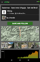 Screenshot of Wikiloc outdoor navigation GPS