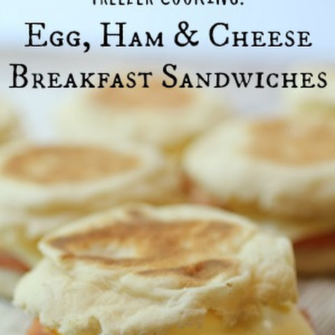 Breakfast Egg Sandwich with Ham and Cheese | Freezer Cooking!