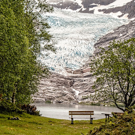 Svartisen by Richard Michael Lingo - City,  Street & Park  Vistas ( svartisen, norway, vista, glacier, park )