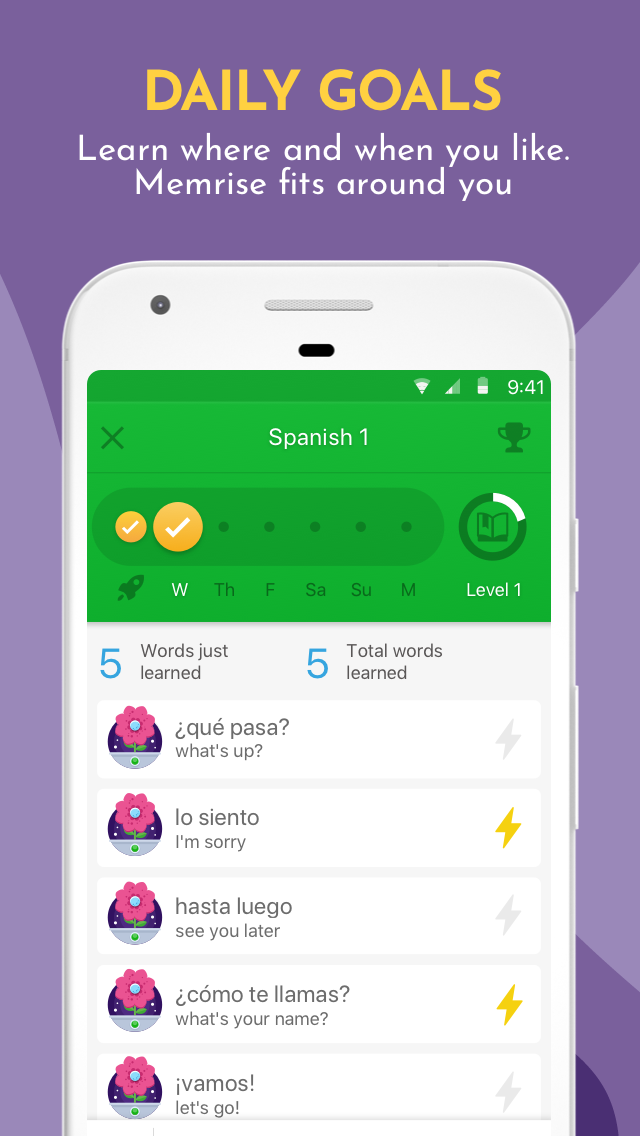 Learn Languages, Grammar & Vocabulary with Memrise Screenshot 3