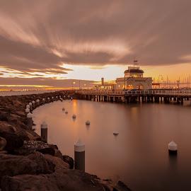 Sunset over St. Kilda by Madhujith Venkatakrishna - Landscapes Sunsets & Sunrises