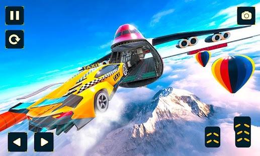 Taxi Car Stunts Games: Ramp Car Impossible Tracks
