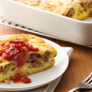 Overnight Southwestern Egg and Sausage Bake