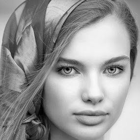 Gypsy Girl by Sylvester Fourroux - Black & White Portraits & People