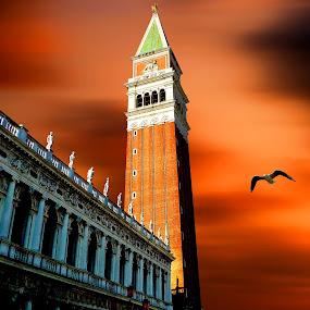 Campanile by Pieter Arnolli - Buildings & Architecture Public & Historical ( venezia, europe, venice, campanile, travel, italy )