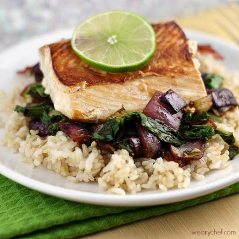 Salmon and Vegetables over Rice
