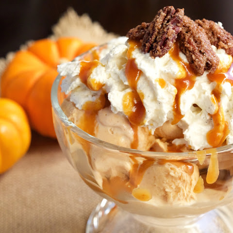 Pumpkin Pie Ice Cream Sundae
