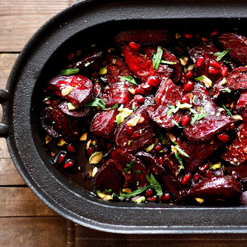 Moroccan Roasted Beets with Pomegranate and Pistachio