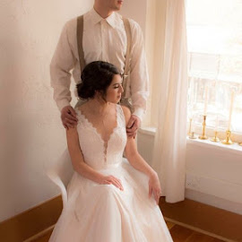A moment of reflection by Krista Stone - Wedding Bride & Groom ( wedding )
