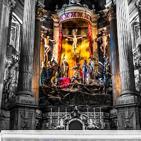Bom Jesus de Braga by Tempo Cativo Paulo Borges - Buildings & Architecture Statues & Monuments ( altar, bom jesus, b&w, church, santuário, black and white, sanctuary, fotografia, bom jesus de braga, photo, photography, p&b, tempo cativo, igreja )