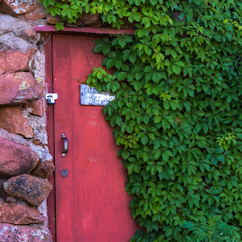 Red Door by Kathy Suttles - Artistic Objects Other Objects