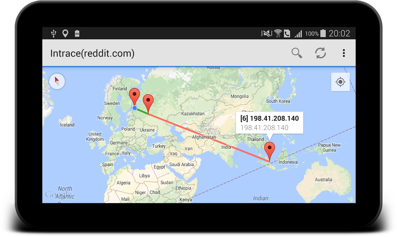 Intrace: Visual Traceroute Screenshot 3