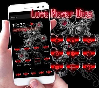 APK App Love Theme Skull Cross for BB, BlackBerry