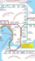 Screenshot of Hong Kong Metro Map