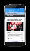 Screenshot of Canada News