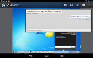 Screenshot of GoToAssist (Remote Support)