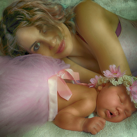 Mother & Daughter by Cheryl Korotky - People Family