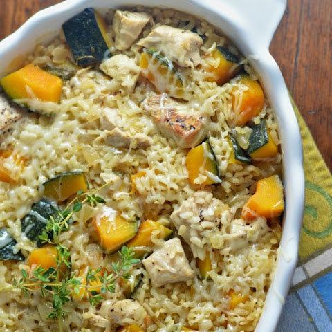 Baked Chicken Risotto with Kabocha Squash {Guest Post from Virtually Homemade}