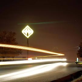 Semi glow by Jim Dawson - Novices Only Street & Candid ( trucks, big rig, transportation )
