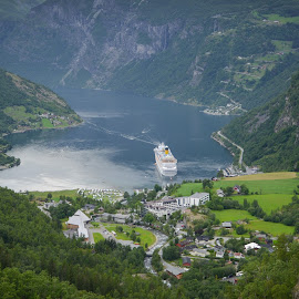 Geiranger, Norway by Marcin Frąckiewicz - Landscapes Mountains & Hills ( geiranger, norway )