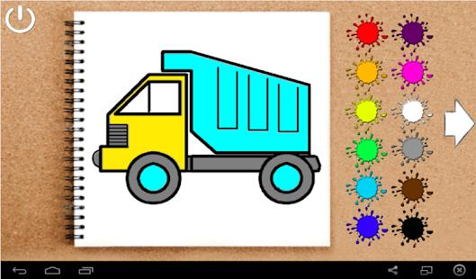 Игра раскраска для детей 3 лет машинки