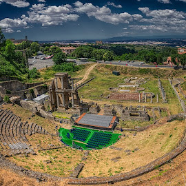 Roman Theatre by Krasimir Lazarov - Buildings & Architecture Public & Historical ( volterra, tuscany, old city, old town, tourism, historic district, cityscape, architecture, landscape, old building, italy )