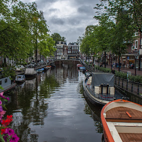 Amsterdam by Rui Medeiros - City,  Street & Park  Street Scenes ( cityscapes, urban landscapes, boats, amsterdam, city,  )