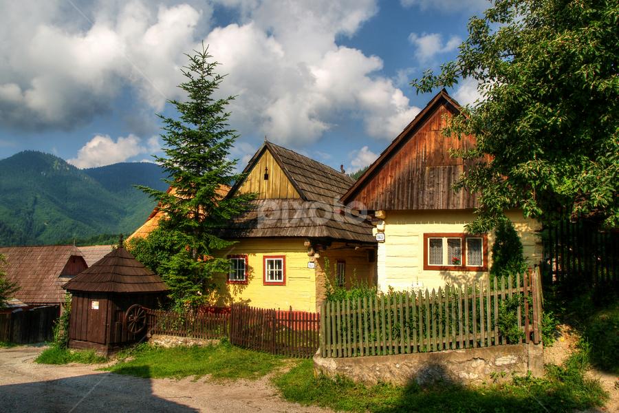 Vlkolínec / Slovakia by Irena Brozova - City,  Street & Park  Historic Districts ( slovakia )