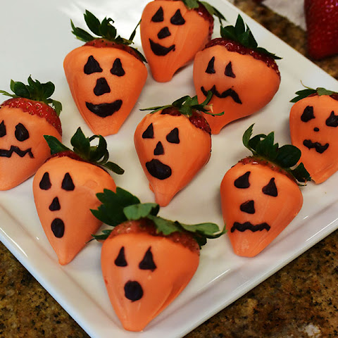 Chocolate Strawberry Ghosts and Pumpkins