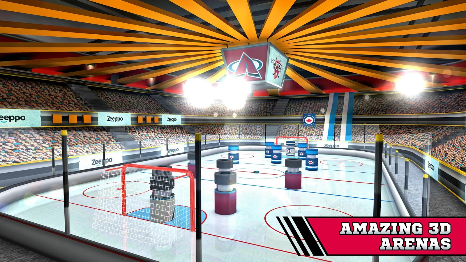 Pin Hockey - Ice Arena Screenshot 1