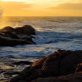 Sea Sunset01 by Louis Havenga - Landscapes Sunsets & Sunrises ( sunset, sea, landscape )