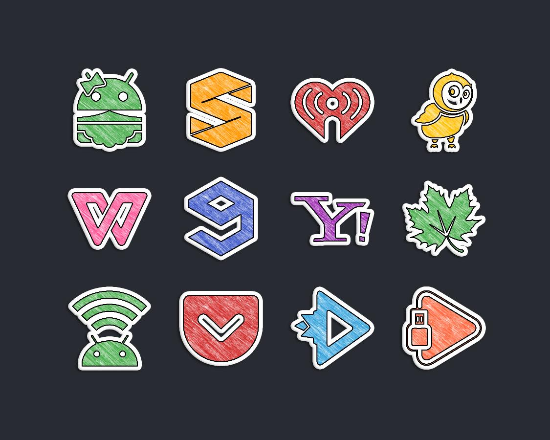 Doodle Stickers Icon Pack Screenshot 6