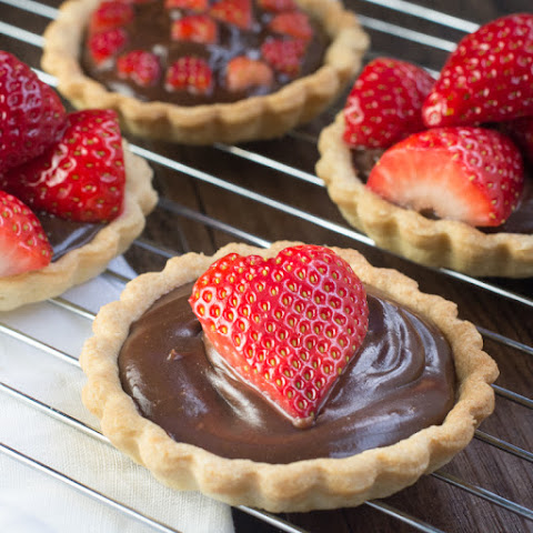 Strawberry & Champagne Truffle Tarts