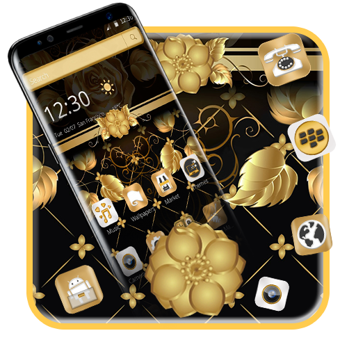 Black Gold Luxury Flower Theme (app)