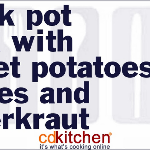 Slow Cooker Pork With Sweet Potatoes, Apples and Sauerkraut