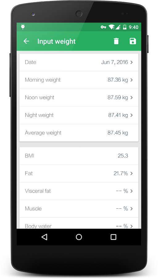 Weight Track Assistant - BMI Screenshot 3