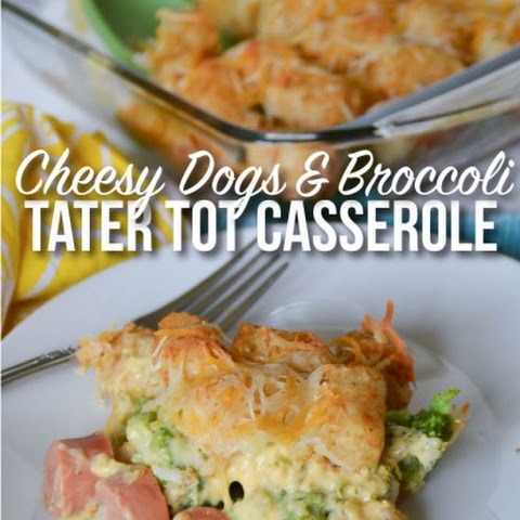 Cheesy Dogs & Broccoli Tater Tot Casserole