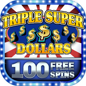 Slot Machine - Triple Super Dollars 🌟 Casino Game