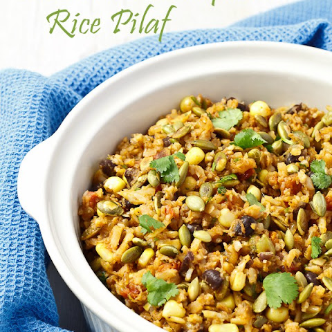Southwest Cauliflower Rice Pilaf with Toasted Pepitas