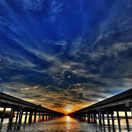 I-10 sunset by Jeff Wilkinson - Landscapes Sunsets & Sunrises