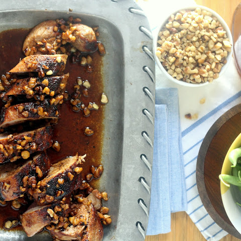 Bourbon Walnut Glazed Pork Tenderloin