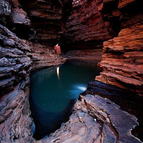 Kermits Pool, Karijini National Park, Western Australia by William Greenfield - Landscapes Waterscapes ( water, national park, karijini, pool, australia, rock, karijini national park, kermits )