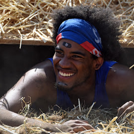 Happy To Be Out ! by Marco Bertamé - Sports & Fitness Other Sports ( straw, eixit happy, the mud day, teeth, horror tunnel, out )